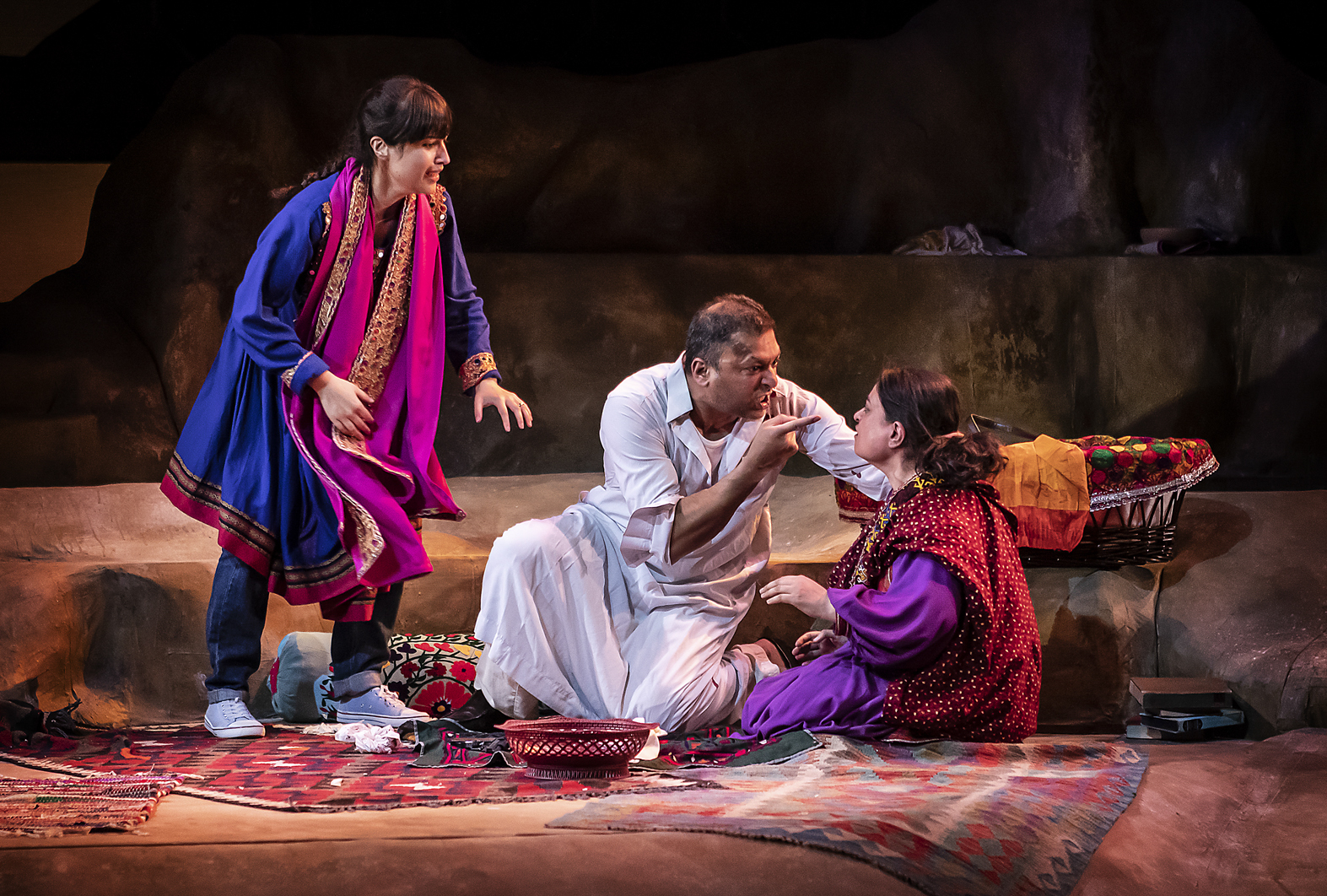 Sujaya Dasgupta (Laila) Pal Aron (Rasheed) Amina Zia (Mariam)_ATSS_Pamela Raith Photography 5